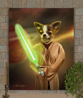 Jedi Knight Custom Pet Portrait Painting Painting