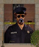 Police Officer Custom Pet Portrait Painting