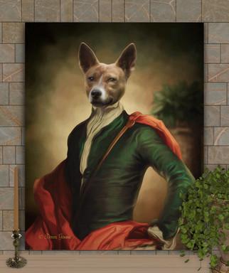 Lord Obadiah Period Style Custom Pet Portrait Painting