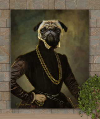 Lord Wright Period Style Custom Pet Portrait Painting