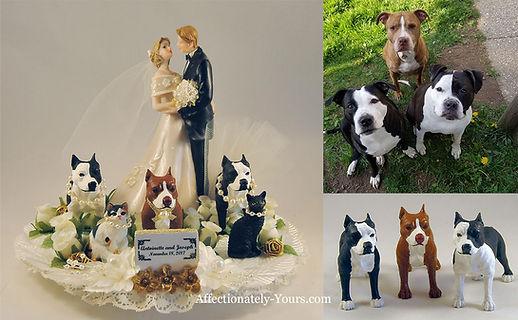 Bride Grooom Dogs Cats Custom Wedding Cake Topper