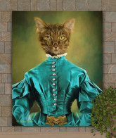 Lady Bennett Period Style Custom Pet Portrait Painting