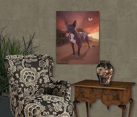 Southwest Sunset Custom Pet Portrait Pai