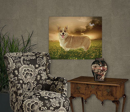 Sunrise Glory Custom Pet Painting