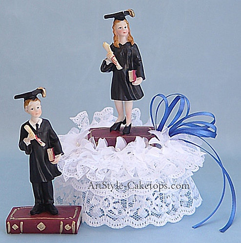 College or High School Graduation Customized Cake Topper