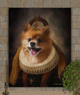King Luther Period Style Custom Pet Portrait Painting