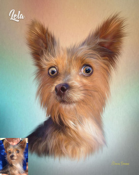 Prism Studio Style Custom Pet Portrait Painting
