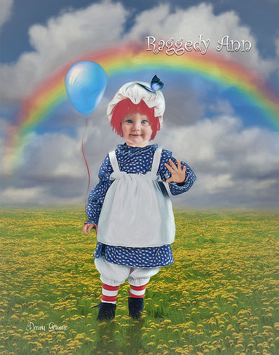 Raggedy Ann Custom Child Portrait