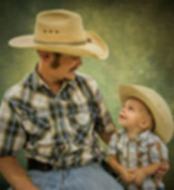 Cowboy and Son Custom Oil Portrait