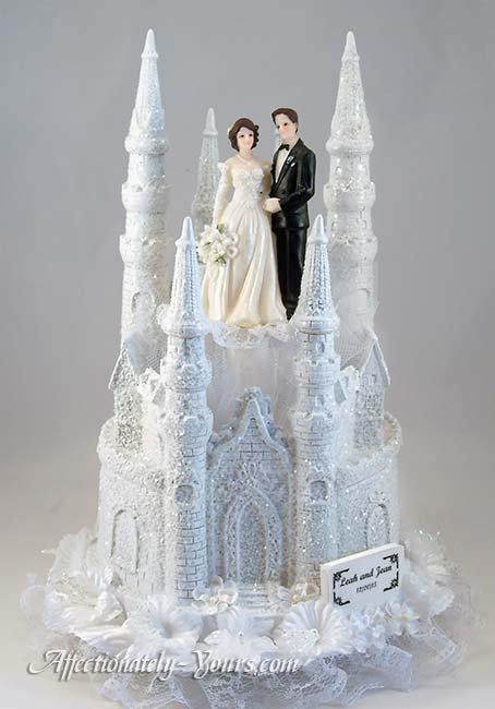 Glitter Medieval Castle Customized Wedding Cake Topper