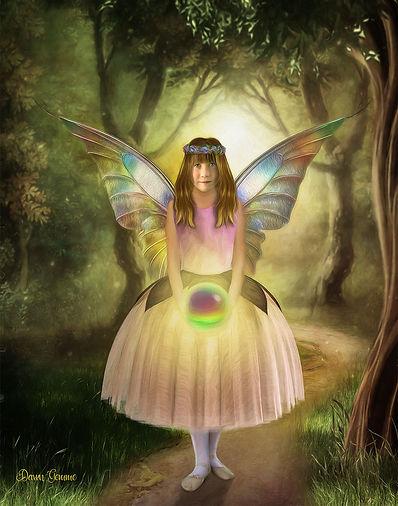 Magic Orb Fairy Child Fantasy Custom Por