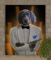 James Bond Custom Pet Portrait Painting