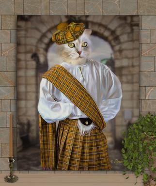 Scotsman Custom Pet Portrait Painting