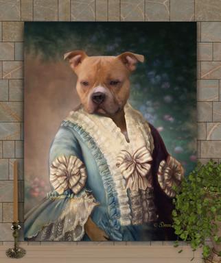 Lady Martha Period Style Pet Portrait Painting