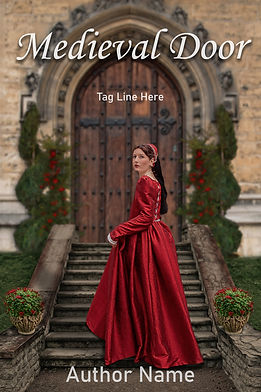 Medieval Door Premade Gothic Mystery Book Cover