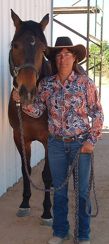 Woman and horse before photo