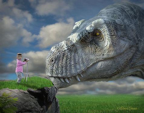 Boy Child and Dinosaur Fantasy Art