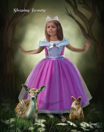 Sleeping Beauty Custom Child Portrait From Your Photo