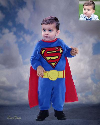 Superman Custom Child Fairytale Portrait
