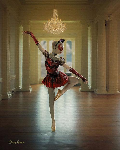 Masked Ballerina Digital Oil Painting