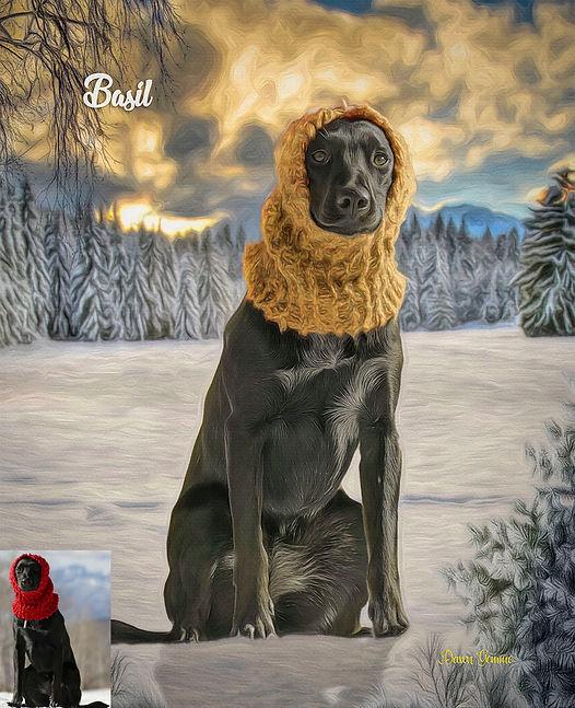 Winter Pines Custom Pet Portrait Paintin