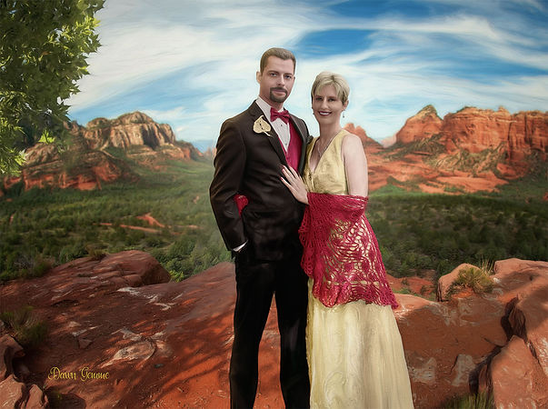 Custom Bride and Groom Portrait Painting