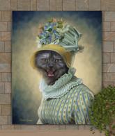 Lady Bertha Period Style Custom Pet Portrait Painting
