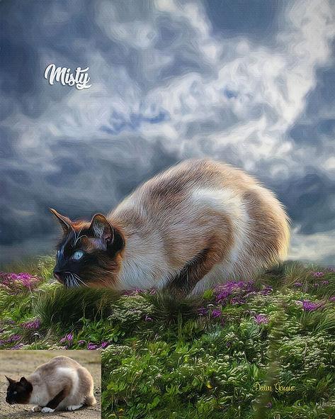Hillside Haven Custom Pet Portrait Paint