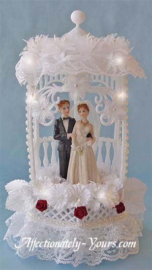 Moonlight Gazebo Customized Wedding Cake Topper