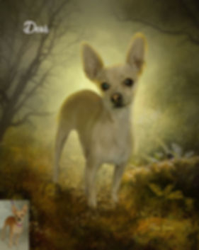 Autumn Brown Custom Digital Paint Dog Po