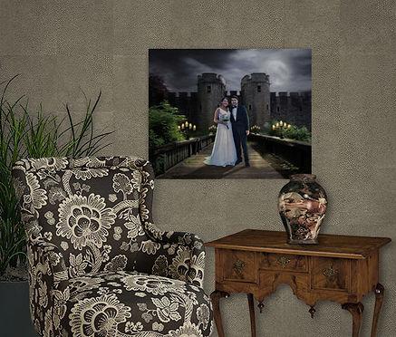 Medieval Castle Candlelit Drawbridge Cus