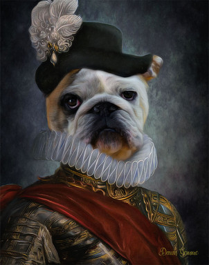 The Aristocrat Custom Period Style Pet Portrait Painting