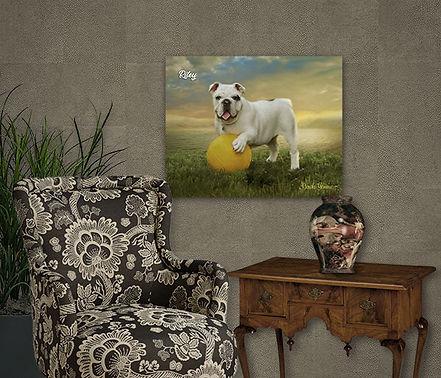 Ocean Gold Custom Oil Pet Portrait Paint