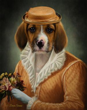 Lady Emma Period Style Custom Pet Portra