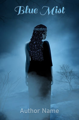 Blue Mist Premade Mystery Book Cover For Sale
