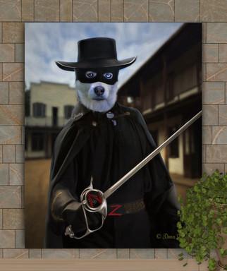Zorro Period Style Custom Dog - Cat - Pet Painting