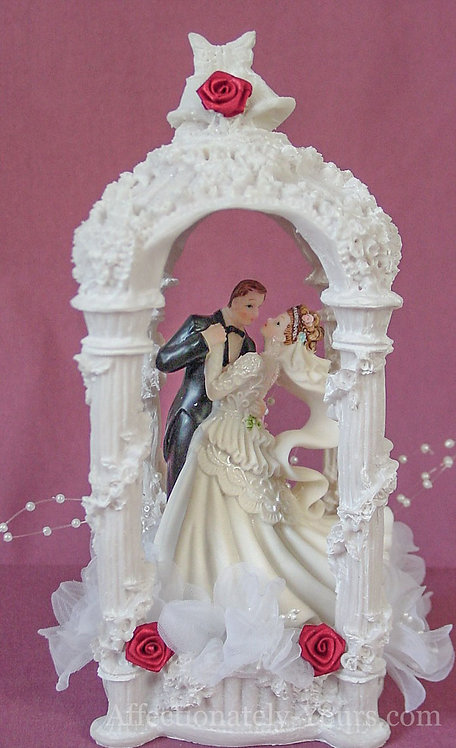 First Night Gazebo Bride and Groom Customized Wedding Cake Topper