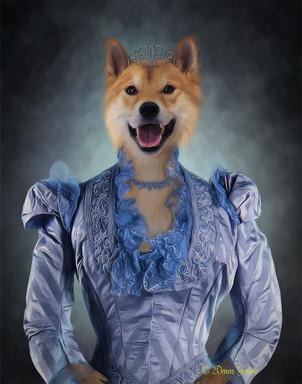 Lady Windsor Period Style Custom Pet Por