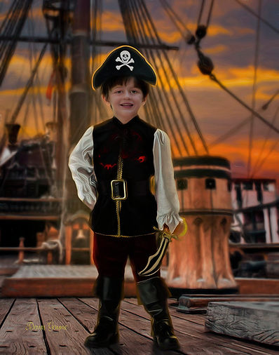 Pirate Custom Child Portrait From Your P