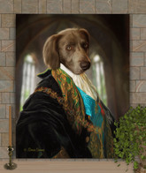 Baron Wesley Period Style Custom Pet Portrait Painting