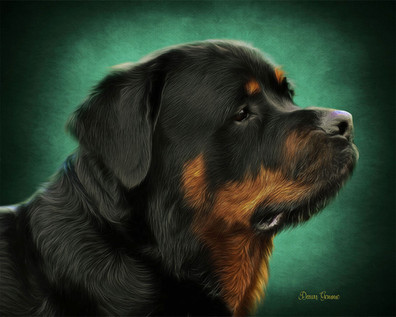Emerald Halo Custom Pet Oil Painting