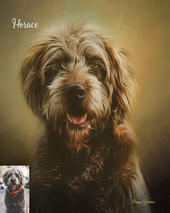 Autumn Dance Custom Pet Portrait Painting