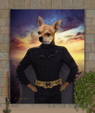 Batman Custom Pet Portrait Painting
