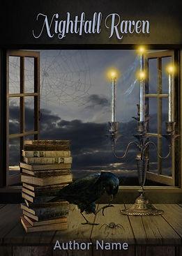 Nightfall Raven Premade Mystery Thriller Book Cover