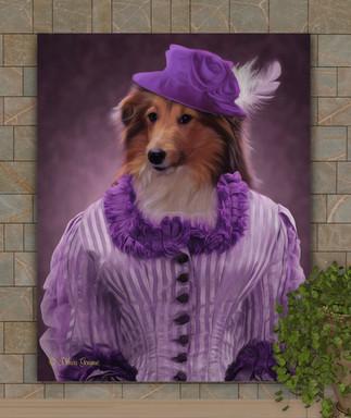 Baroness Clara Period Style Custom Pet Portrait Painting