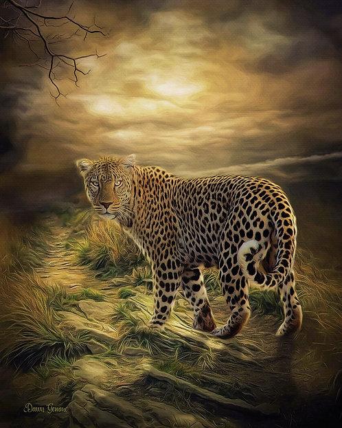 Leopard Storm Digital Oil Painting