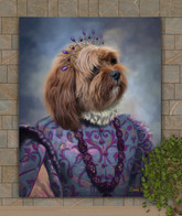 Princess Charlotte Period Style Custom Pet Portrait Painting