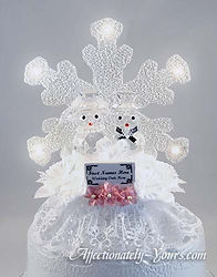 Snowman Bride and Groom Customized Weddi