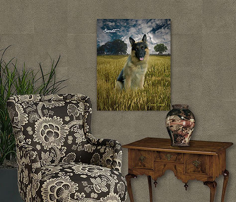 Wheat Field Custom Pet Portrait Painting