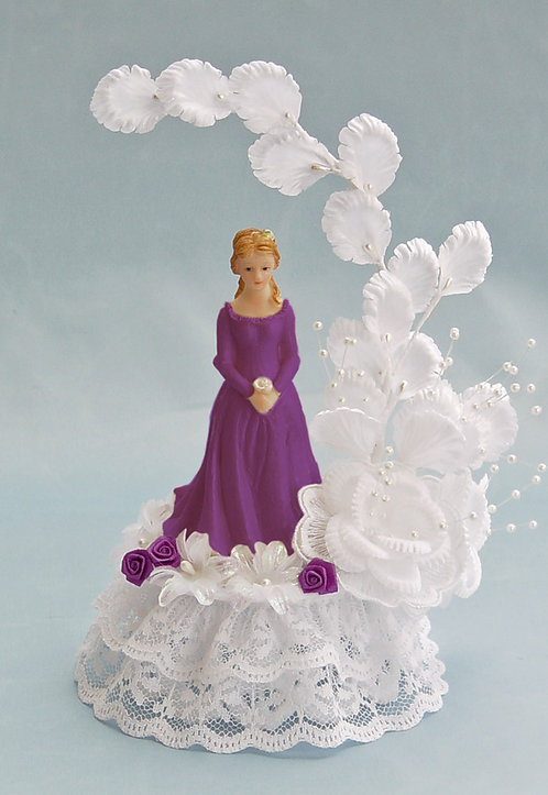 Delicate Flower Arch Sweet 16 - 15 Quinceañera Customized Cake Topper